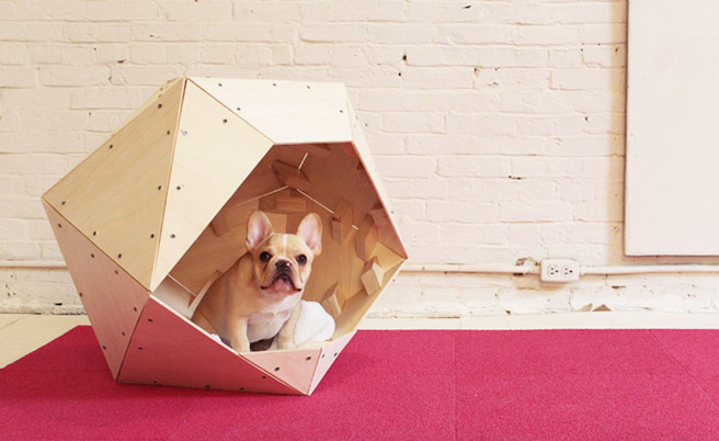 DIY Geometric Doghouse From Homemade Modern