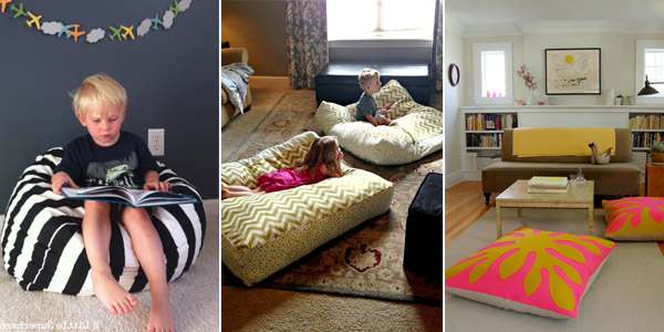 DIY Giant Floor Pillows - 3