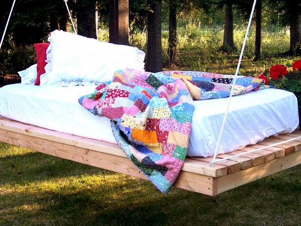DIY Hanging Daybed