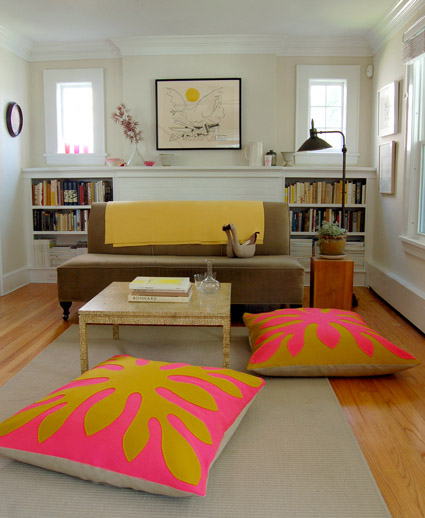DIY Hawaiian Style Felt Floor Pillows