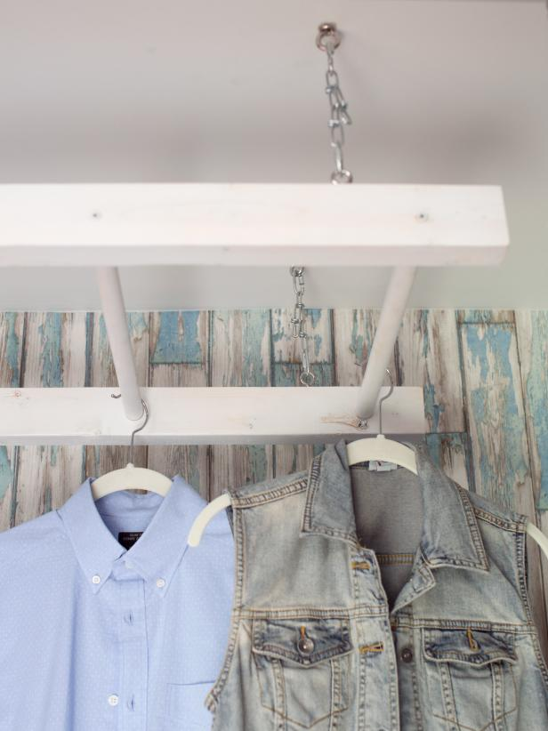 DIY Ladder Drying Rack
