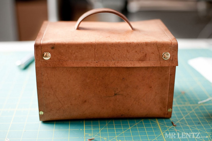 DIY Leather and Wood Lunchbox