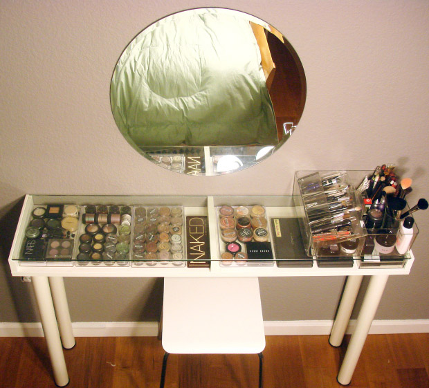 DIY Makeup Vanity From IKEA Parts
