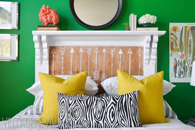 DIY Mantle To Headboard
