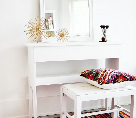 DIY Mirrored Dressing Table