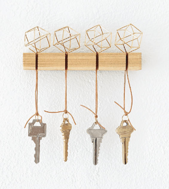 DIY Modern Key Holder