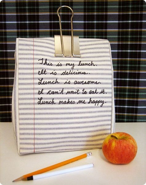 DIY Notebook Lunch Bag