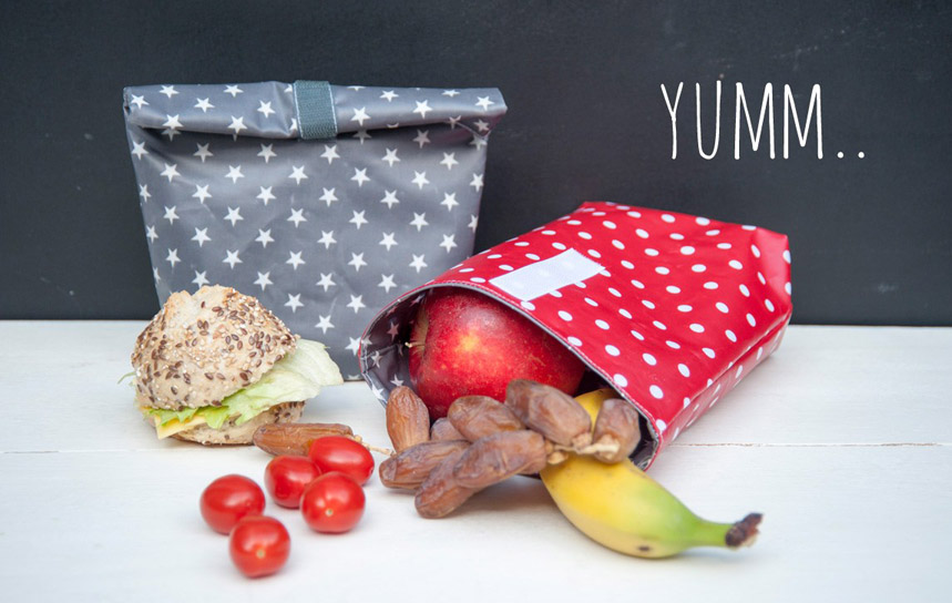 DIY Oilcloth Lunch Bag