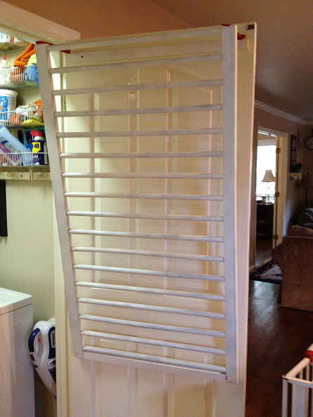 DIY Over-The-Door Clothes Drying Rack