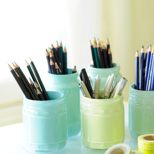 DIY Painted Storage Jars