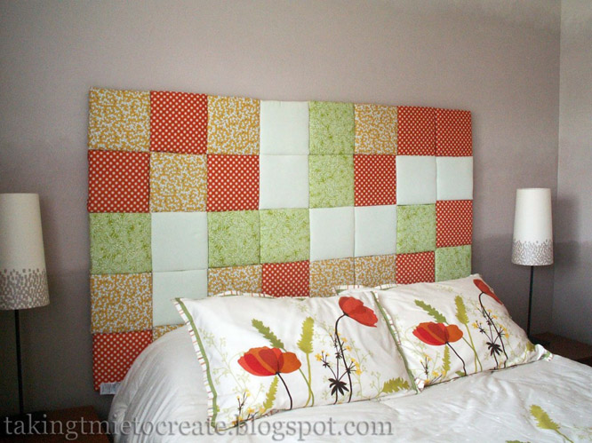 DIY Patchwork Headboard
