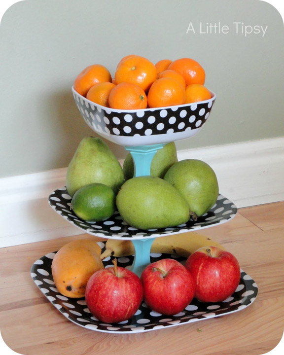 DIY Polka Dot Fruit Stand