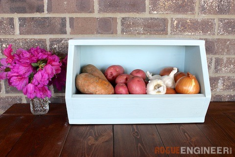 DIY Root Vegetable Storage Bin