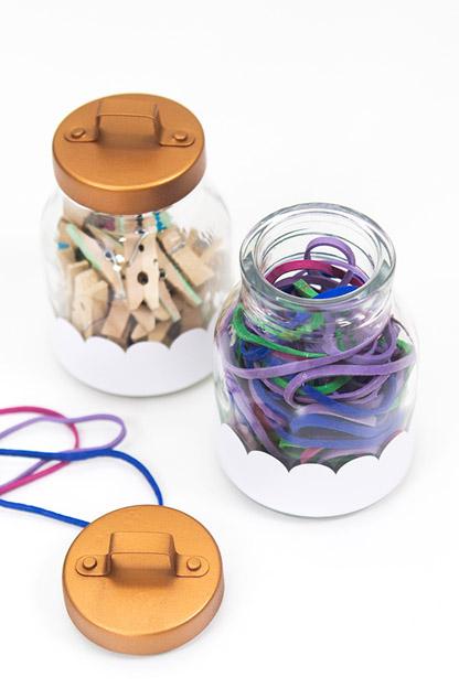 DIY Scalloped Storage Jars