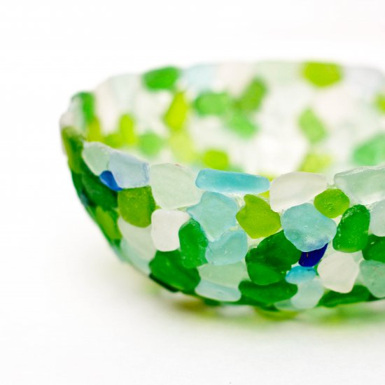 DIY Sea Glass Bowl