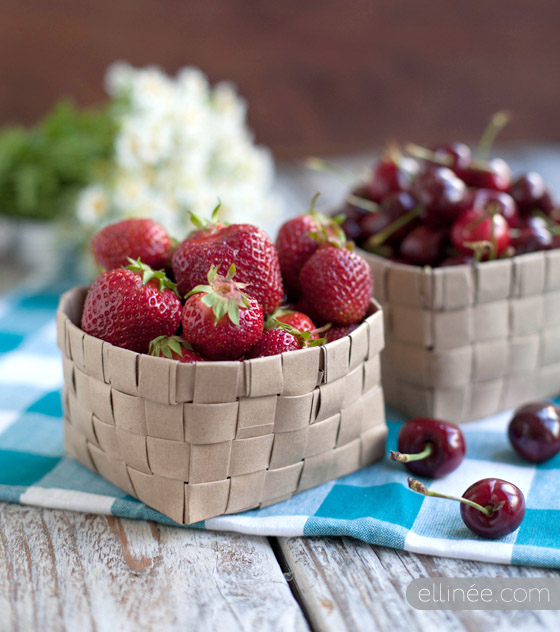 DIY Upcycled Fruit Basket