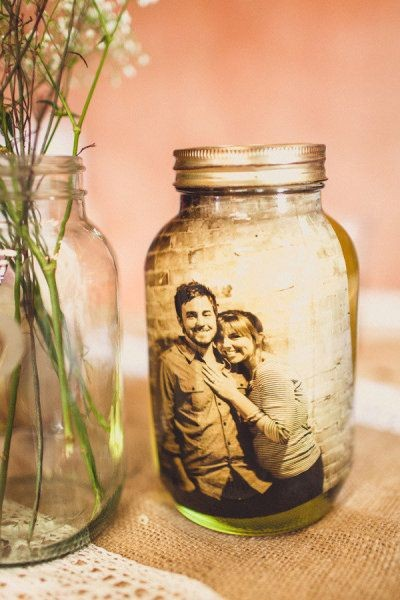 DIY Vintage Photo Mason Jar