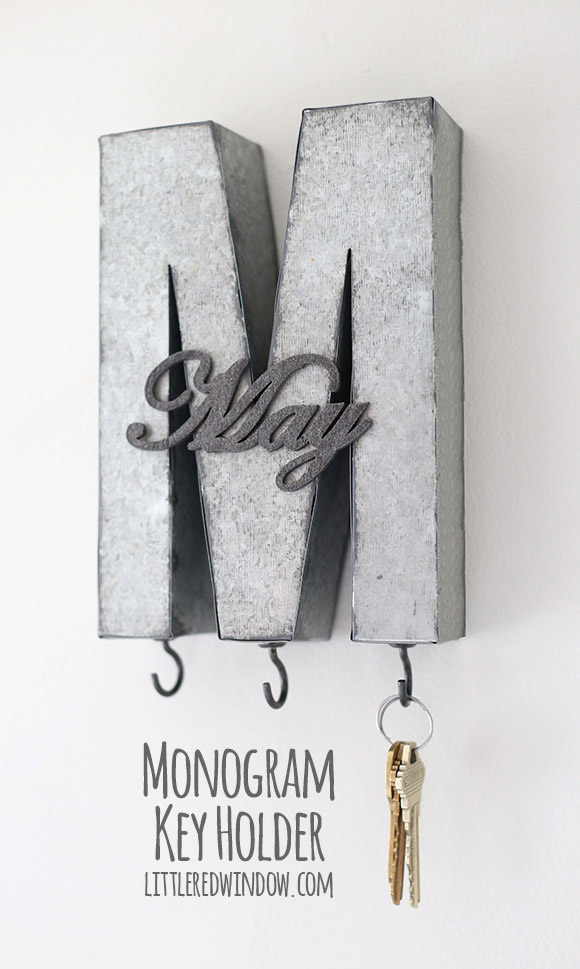 Monogram DIY Key Holder