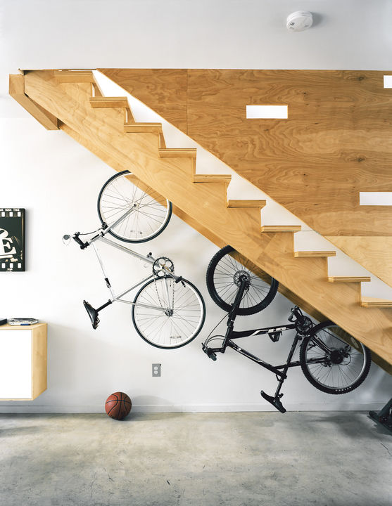 Store Bikes Under the Stairs