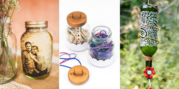 Upcycle Glass Jars and Bottles