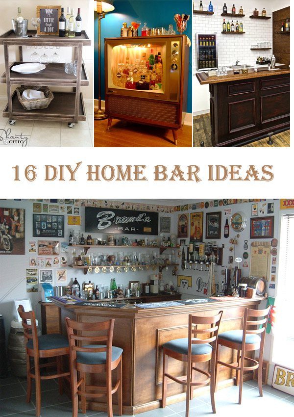 16 DIY Home Bar Ideas