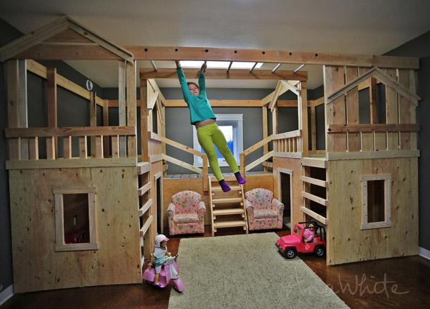 DIY Basement Indoor Playground by AnaWhite