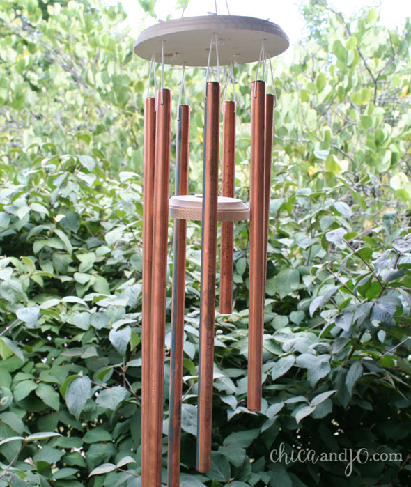 DIY Copper Wind Chimes