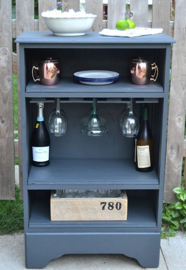 DIY Curbside Dresser Turned Into A Bar