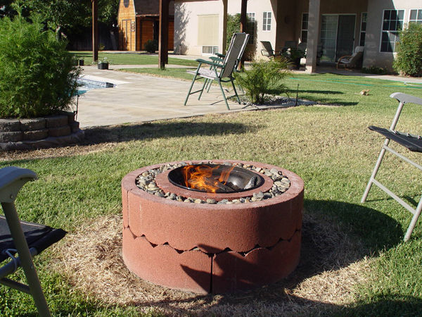 DIY Fire Pit Using Conrete Tree Rings by Instructables