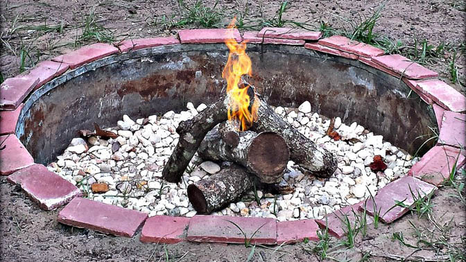 DIY Fire Pit by TheCoastalHomestead