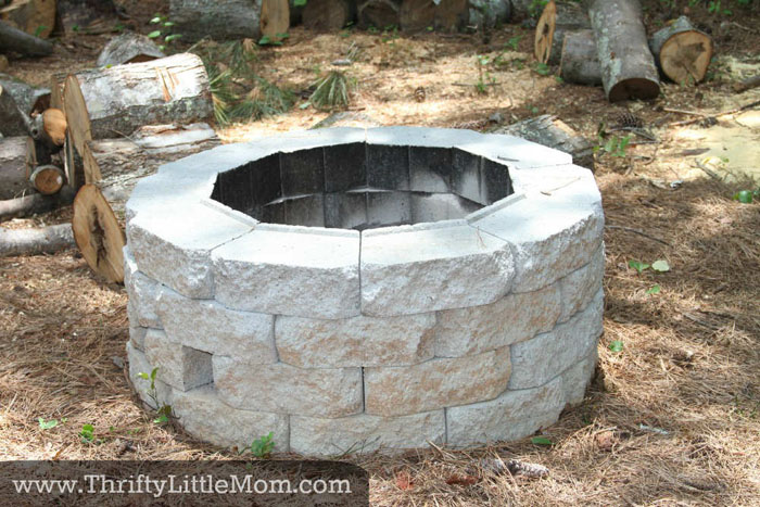 DIY Fire Pit by ThriftyLittleMom