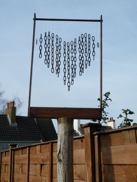 DIY Heart Shaped Wind Chime