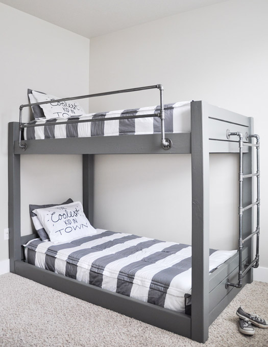 DIY Industrial Bunk Bed