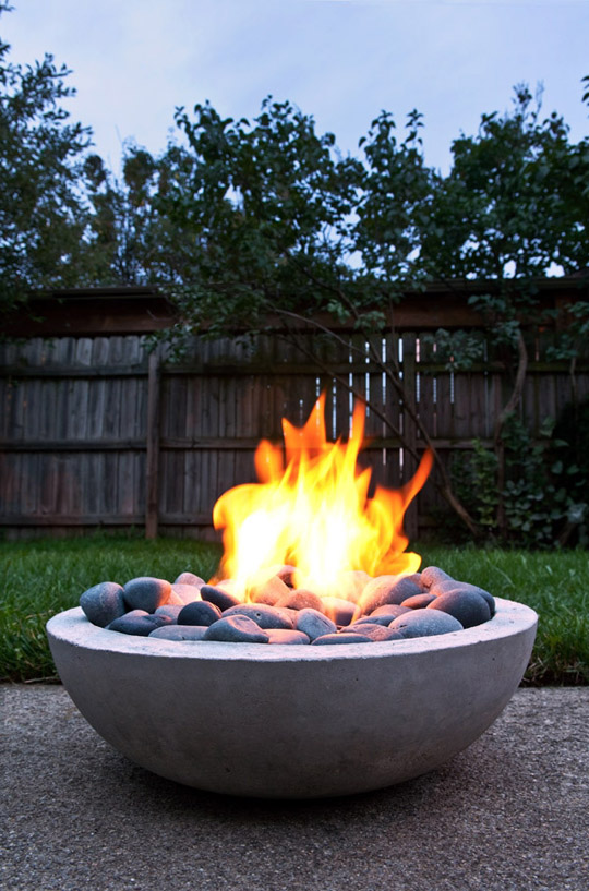 DIY Modern Concrete Fire Pit by ManMade