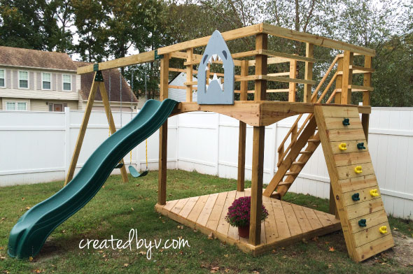 Merveilleux DIY Outdoor Playset By CreatedByV