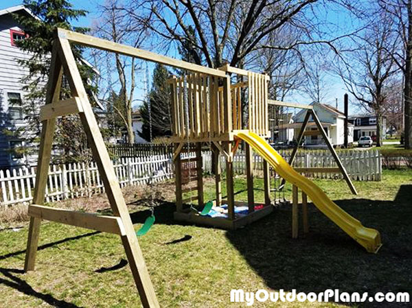 DIY Outdoor Playset by MyOutdoorPlans