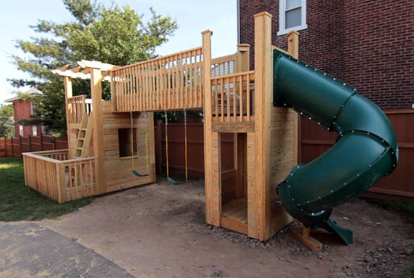 DIY Outdoor Wood Playset by MyFixItUpLife