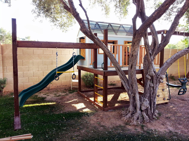 DIY Play Structure & Swing Set by AnaWhite