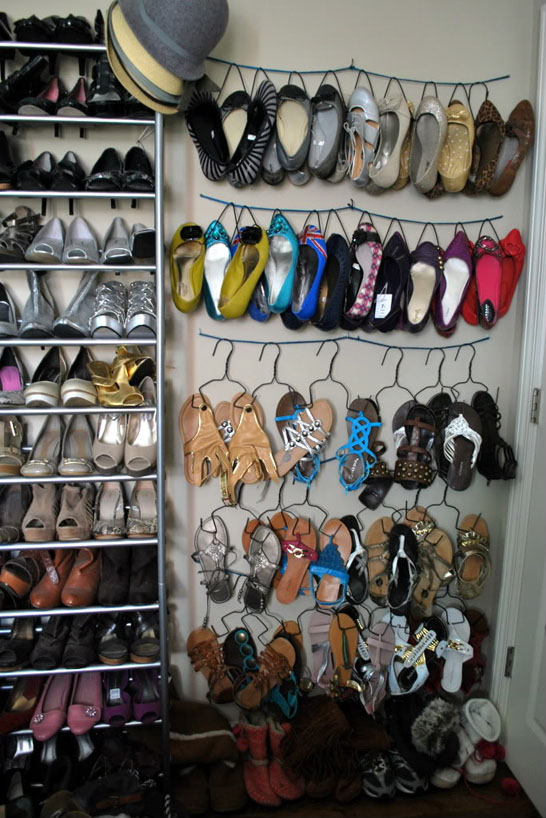 DIY Shoe Hangers by HeyWandererBlog