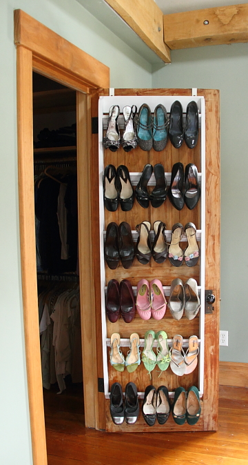 DIY Shoe Organizer For Heels by Home&AwayWithLisa