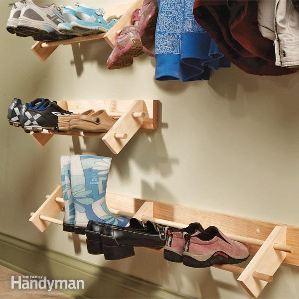 DIY Shoe Organizer by FamilyHandyman