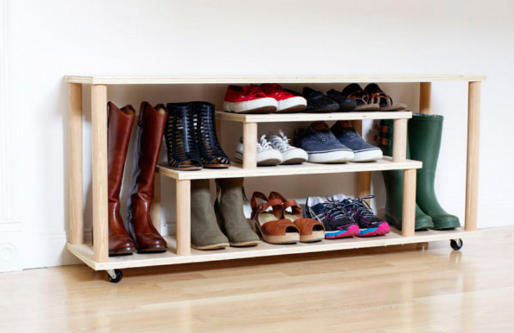 DIY Shoe Rack by HomeDepot