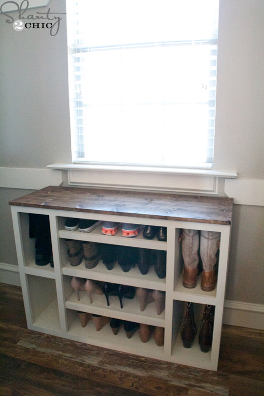 DIY Shoe Storage Cabinet by Shanty2Chic