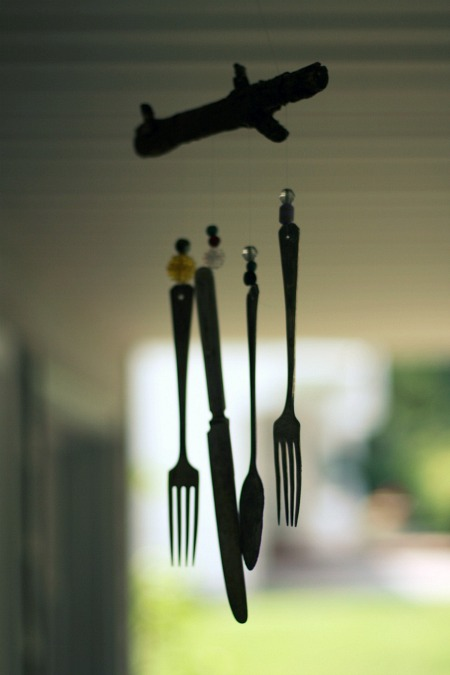 DIY Silverware Wind Chimes