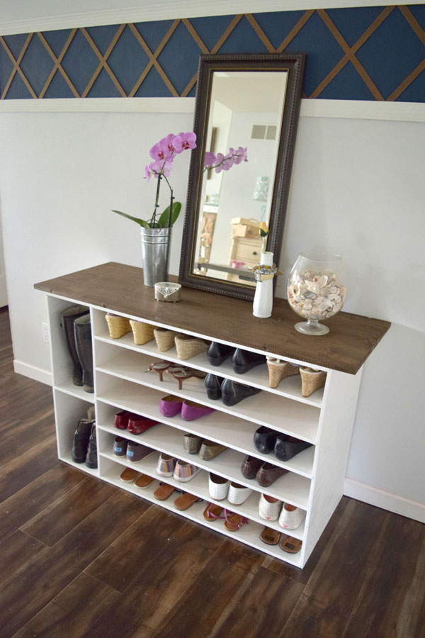 DIY Stylish Shoe Rack by Homedit