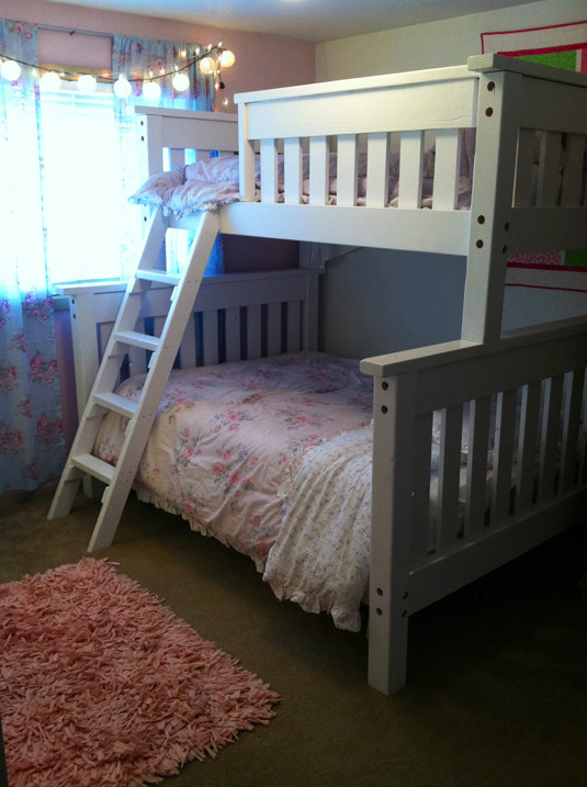 DIY Twin Over Full Simple Bunk Bed