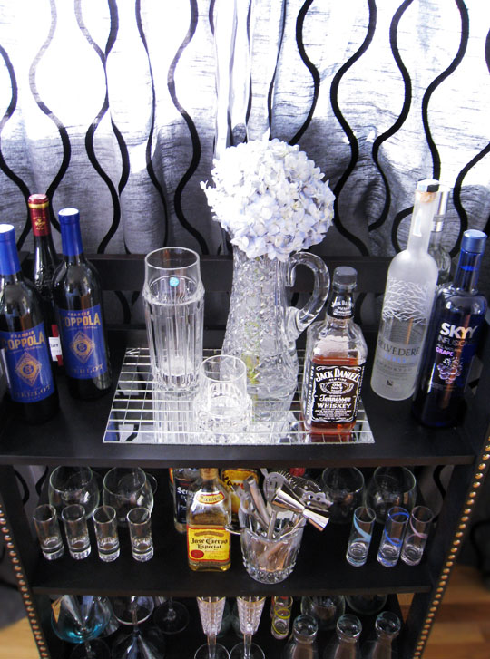 DIY Wood Shelves Turned Into a Chic Mini Bar
