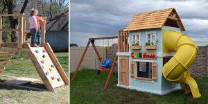 10 Free DIY Playground & Playset Plans