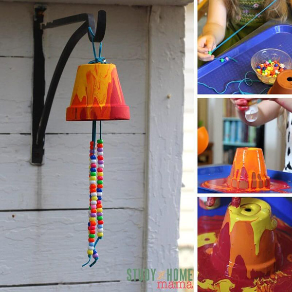 Kid-Made Garden Wind Chimes