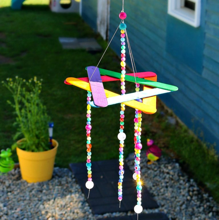 Rainbow Wind Chime Kids Craft